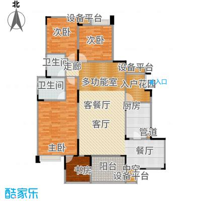城南未来120.31㎡城南未来户型图D4室3厅2卫1厨120.31㎡(7/10张)户型10室