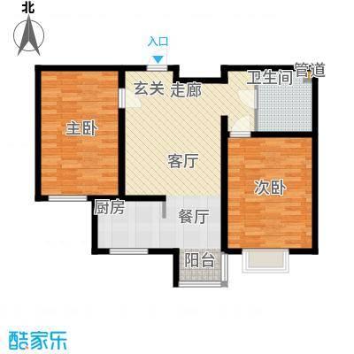 山水宜居81.00㎡山水宜居户型图G户型(9/12张)户型2室2厅1卫