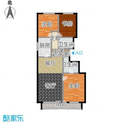 顺鑫・华玺瀚�126.00㎡S1户型3室2卫1厨