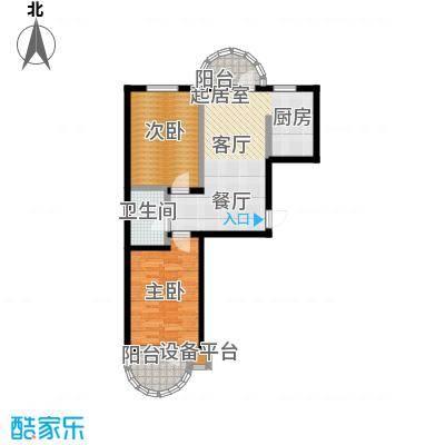 香洲心城三期89.00㎡21、22#G户型2室1厅1卫1厨 89.00㎡户型2室1厅1卫