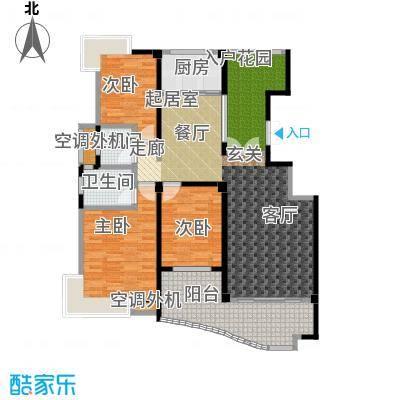 荣宏富家130.00㎡一期6、7、8号楼小高层B1户型3室2厅2卫