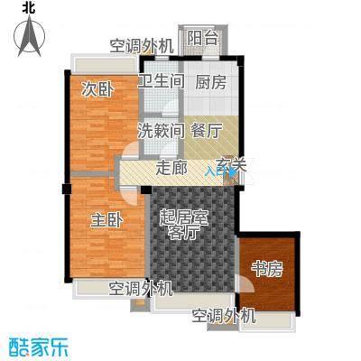 连海金源115.00㎡三室二厅一卫户型3室2厅1卫