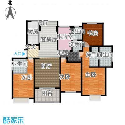 绿地白金汉宫182.76㎡A1、A2、A3、A4、A5、A6楼C2户型五房两厅三卫182.76平米户型5室2厅3卫
