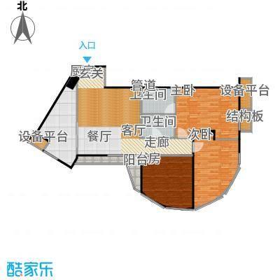 蠡湖国际公寓124.00㎡蠡湖国际公寓户型图C户型(1/1张)户型3室2厅2卫