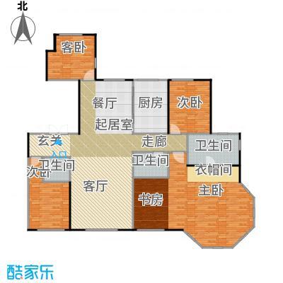 天润・香墅湾1号262.00㎡H户型3室2厅3卫