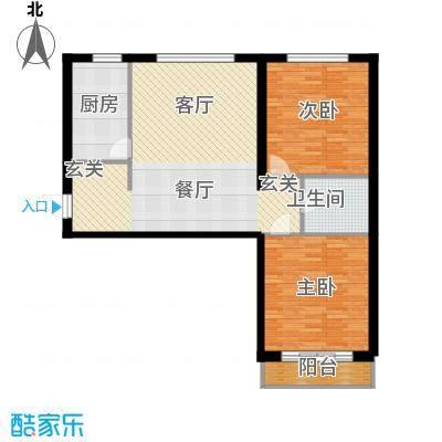 恒盛家园102.10㎡恒盛家园户型图(1/19张)户型2室1厅