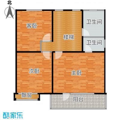 水长城艺墅98.03㎡A二层平面图户型10室