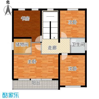 水长城艺墅100.23㎡C二层平面图户型10室