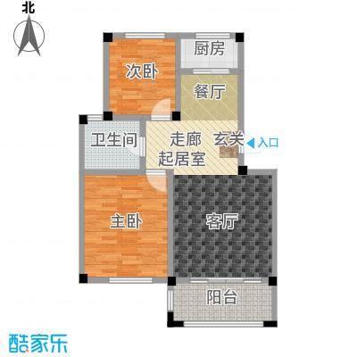 远洋假日养生庄园B-4洋房 二室二厅一卫户型2室2厅1卫