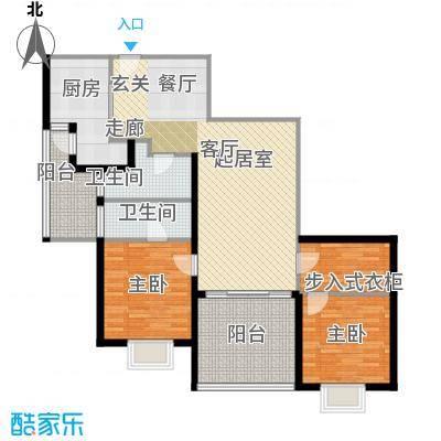 荟锦122.00㎡荟锦户型图2-9层02户型(2/7张)户型2室2厅2卫