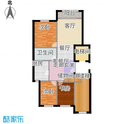 华润・润西山100.00㎡C2户型3室2厅1卫