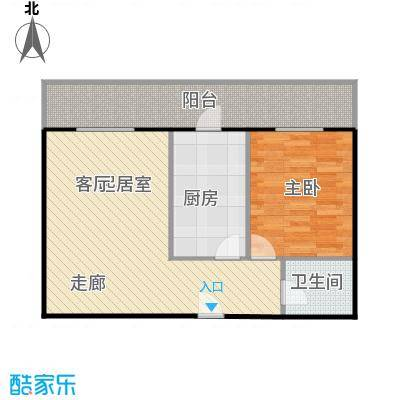利海公寓70.00㎡一室一厅户型