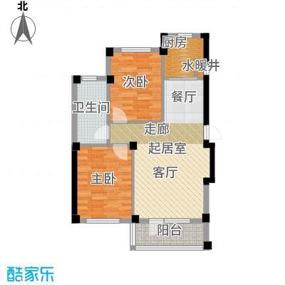 岚山著作84.80㎡F 二室二厅一卫户型2室2厅1卫