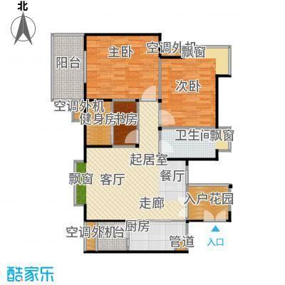 汇锦城98.00㎡E2户型三室两厅一卫户型3室2厅1卫