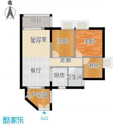 君华香柏广场89.72㎡G5户型3室1卫1厨