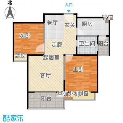 鸿基新城77.86㎡鸿基新城户型图24A-12室2厅1卫(16/29张)户型2室2厅1卫