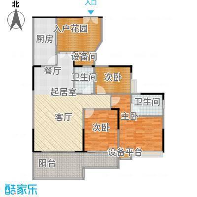 宏新华庭A栋-301户型3室2卫1厨
