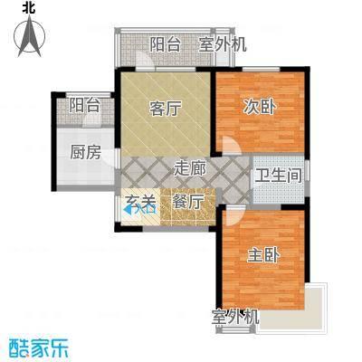天津湾海景文苑98.00㎡C1反户型2室2厅1卫