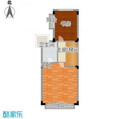 世纪城国际公馆香榭里72.63㎡A2三层户型2室1卫