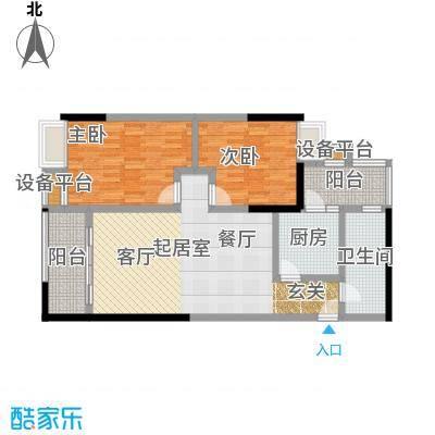 西湾阳光南座14-16层B户型2室1卫1厨