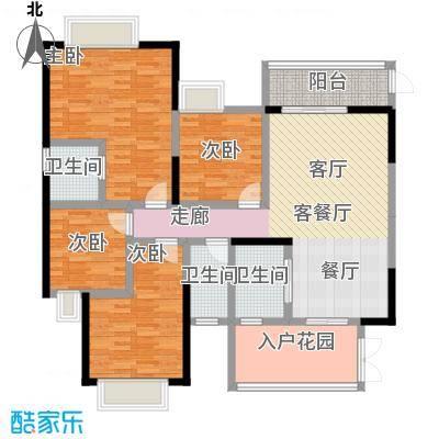 富盈盈翠曦园户型4室1厅3卫