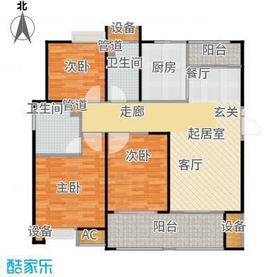 悦府・保利海德公馆三期126.00㎡三室两厅二卫户型3室2厅2卫