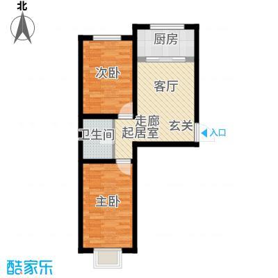 溪峰尚居64.40㎡A1户型2室1厅1卫