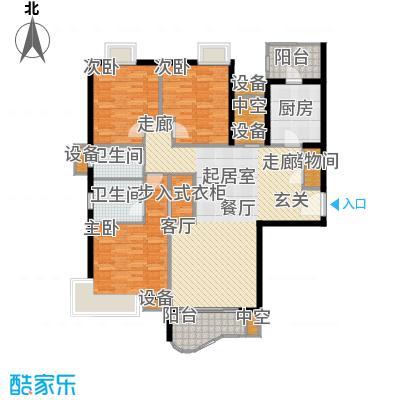 天山河畔花园136.39㎡房型: 三房; 面积段: 136.39 -138.92 平方米; 户型