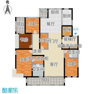 鼎旺大观218.16㎡B户型4室3厅3卫户型4室3厅3卫