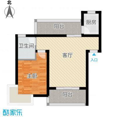 立立依山郡4号楼A栋6-16-2B栋6-户型1室1厅1卫1厨