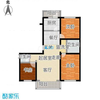 万豪长隆湾127.34㎡二期m户型3室2厅2卫-G