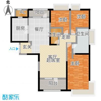 招商钻石山203.00㎡04户型 三室二卫二厅户型3室2厅2卫