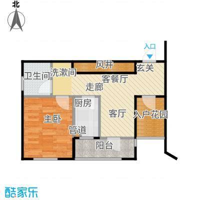 香海上峰47.23㎡1室1厅1卫户型