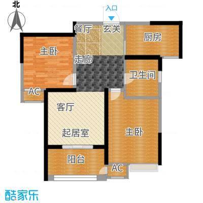 九龙雅苑89.00㎡九龙雅苑户型图B户型(3/3张)户型2室2厅1卫