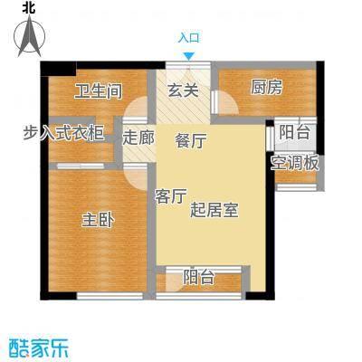 招商钻石山82.00㎡A03 15-25层 奇数层户型