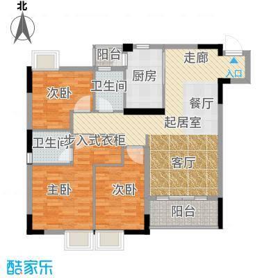 三正世纪豪庭95.02㎡户型3室2卫1厨