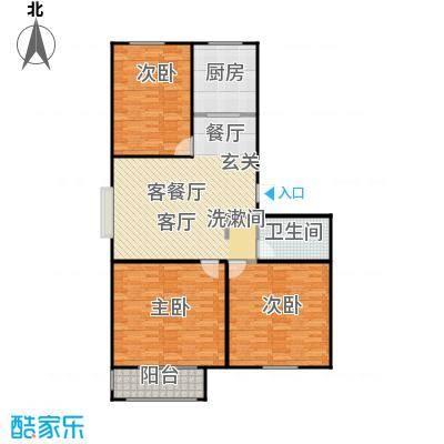 丽景盛园121.00㎡D3\'户型 3室2厅1卫121平户型3室2厅1卫