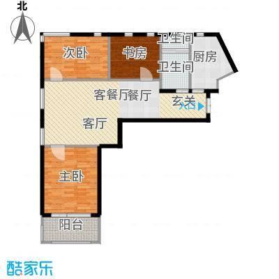 金科清都记忆L户型 三室两厅一卫121平米户型3室2厅1卫