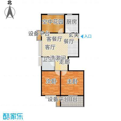 阳光福地95.40㎡二房二厅一卫:101.15平米户型