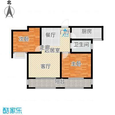 青枫壹号88.00㎡A户型 两室两厅一卫户型2室2厅1卫