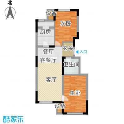 东丽湖万科城鹭湖90.00㎡两室两厅一卫户型2室2厅1卫