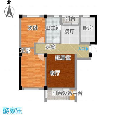岚山著作82.30㎡二室二厅一卫户型2室2厅1卫