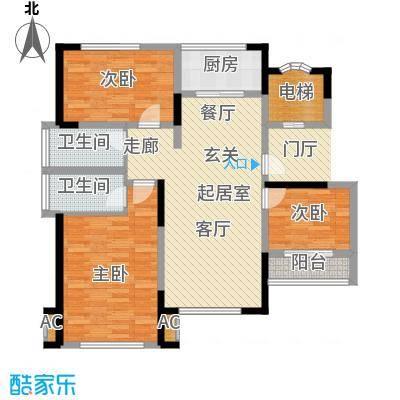 万道尊品101.00㎡A户型尊・尚户型3室2厅2卫QQ