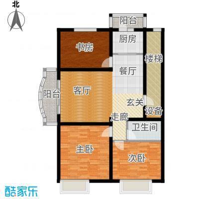 博地花园113.00㎡博地花园113.00㎡3室2厅1卫户型3室2厅1卫