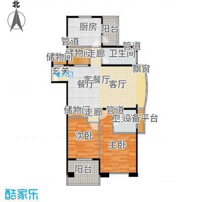 德玛公寓100.00㎡房型: 二房; 面积段: 100 -110 平方米; 户型