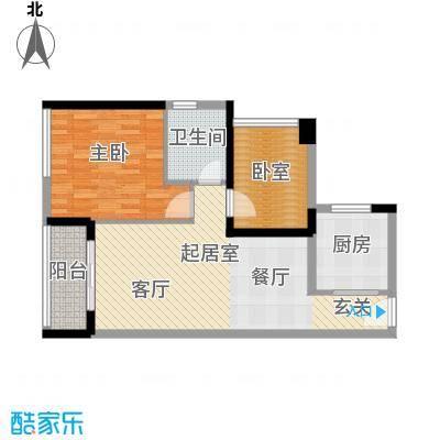 中海橡园国际76.55㎡4栋04户型1室1卫1厨