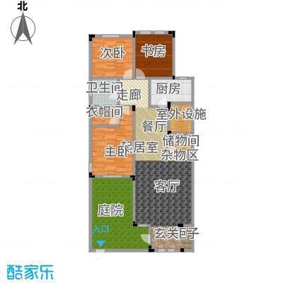 阳光地中海127.29㎡花园洋房A地上一层3室2厅1卫127.29㎡户型
