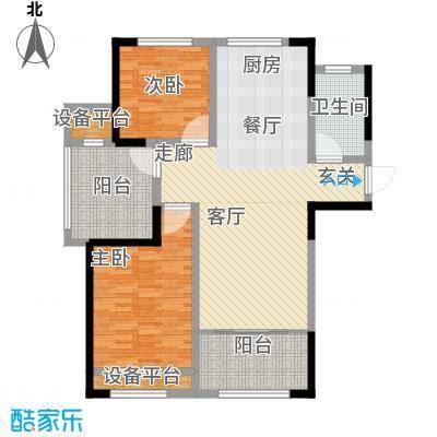 嘉禾尚郡107.00㎡A户型3室2厅1卫107平米户型3室2厅1卫
