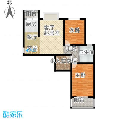 奇源尚层111.30㎡户型1户型2室2厅1卫