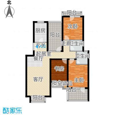 景瑞阳光尚城126.00㎡三室两厅两卫户型3室2厅2卫